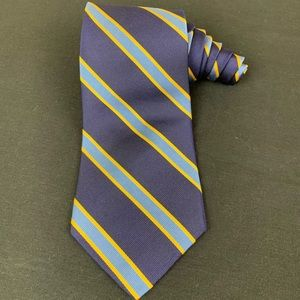 Brooks Brothers Makers blue yellow/Gold striped